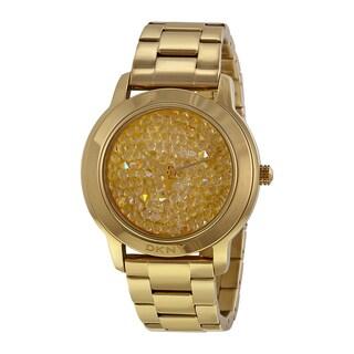 DKNY Women's NY8437 Goldtone Crystal-paved Watch