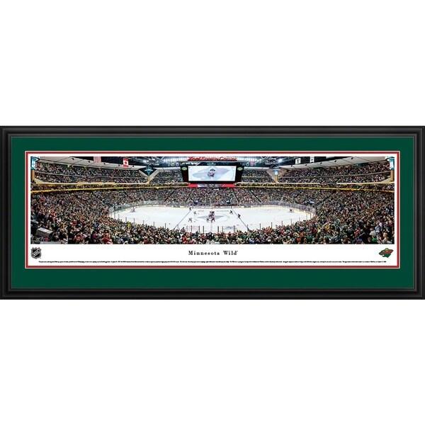 Blakeway Panoramas 'Minnesota Wild - Center Ice' Framed NHL Print