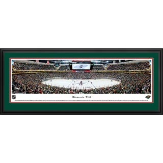 Blakeway Panoramas 'Minnesota Wild - Center Ice' Framed NHL Print