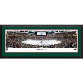 Blakeway Panoramas 'Minnesota Wild - Center Ice' Framed NHL Print (3 options available)