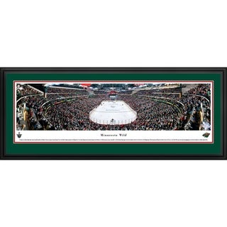 Blakeway Panoramas NHL Minnesota Wild 'End Zone' Framed Print