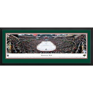 Blakeway Panoramas NHL Minnesota Wild 'End Zone' Framed Print