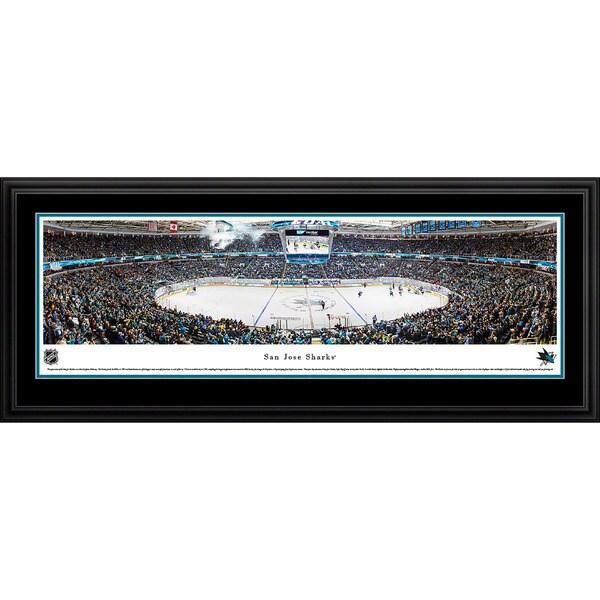 Blakeway Panoramas San Jose Sharks Framed NHL Print