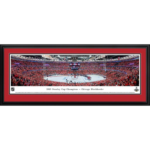 Blakeway Worldwide Panoramas 2015 Stanley Cup Champions Chicago Blackhawks Framed NHL Print