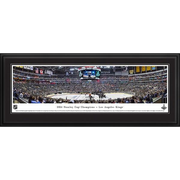 Blakeway Worldwide Panoramas 2014 Stanley Cup Champions Los Angeles Kings Framed NHL Print