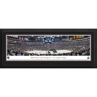 Blakeway Worldwide Panoramas 2014 Stanley Cup Champions Los Angeles Kings Framed NHL Print