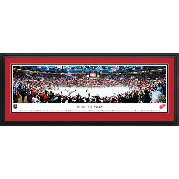 Blakeway Panoramas 'Detroit Red Wings' Multicolored Framed NHL Print