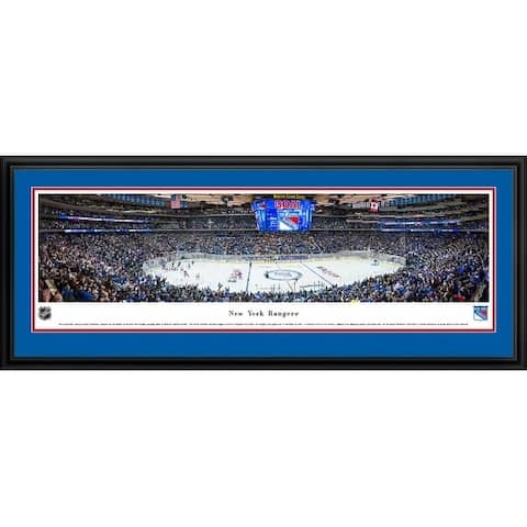 Blakeway Panoramas New York Rangers Framed Print
