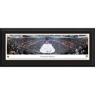 Blakeway Panoramas 'Pittsburgh Penguins - End Zone' Framed NHL Print