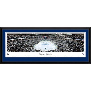 Blakeway Panoramas 'Winnipeg Jets Whiteout End Zone' Framed NHL Print (3 options available)
