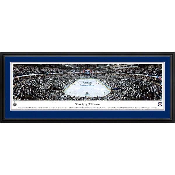 Blakeway Panoramas 'Winnipeg Jets Whiteout End Zone' Framed NHL Print