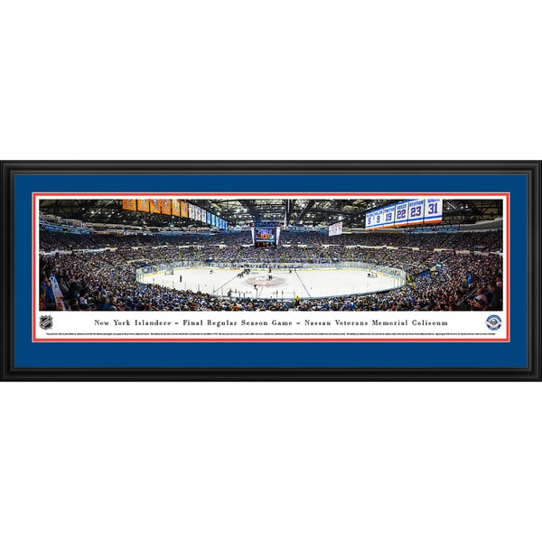 Blakeway Panoramas 'New York Islanders Center Ice' Framed NHL Print