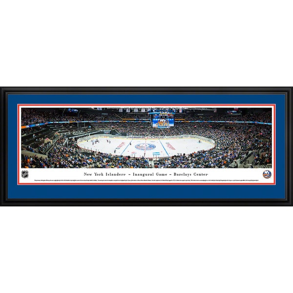 Blakeway Panoramas 'New York Islanders - Center Ice' Framed NHL Print