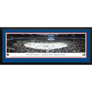 Blakeway Panoramas 'New York Islanders - Center Ice' Framed NHL Print