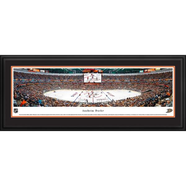 James Blakeway 'Center Ice' Anaheim Ducks Blakeway Panoramas Framed NHL Print