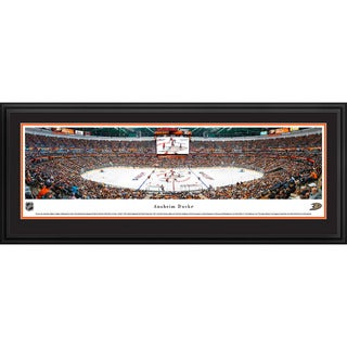 James Blakeway 'Center Ice' Anaheim Ducks Blakeway Panoramas Framed NHL Print