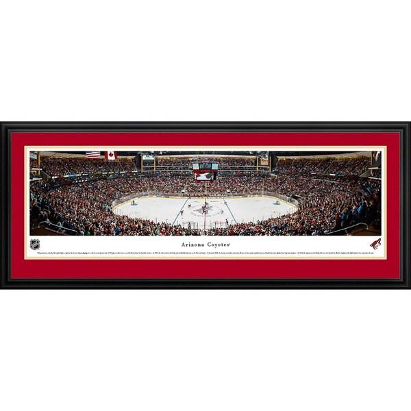 Blakeway Panoramas 'Arizona Coyotes - Center Ice' Framed NHL Print