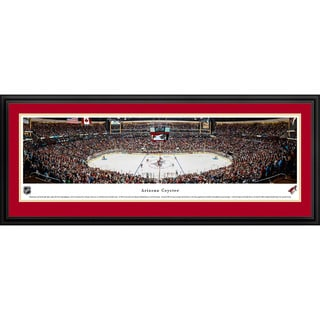 Blakeway Panoramas 'Arizona Coyotes - Center Ice' Framed NHL Print