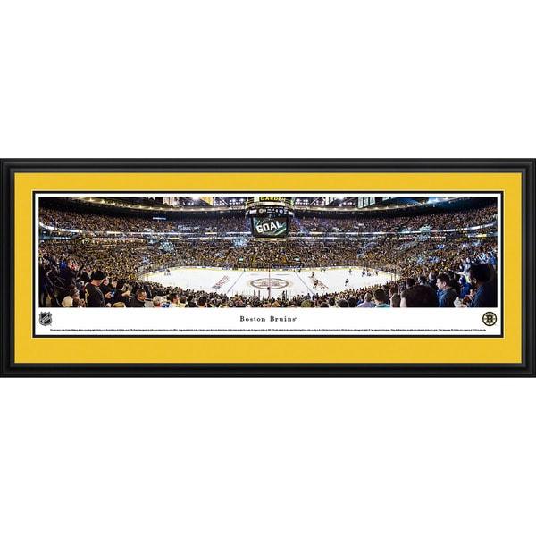 Blakeway Worldwide Panoramas Boston Bruins Center Ice Framed NHL Print