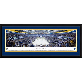 Blakeway Panoramas Saint Louis Blues End Zone Framed NHL Print