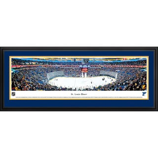 Blakeway Panoramas 'Saint Louis Blues - Center Ice' Framed NHL Print