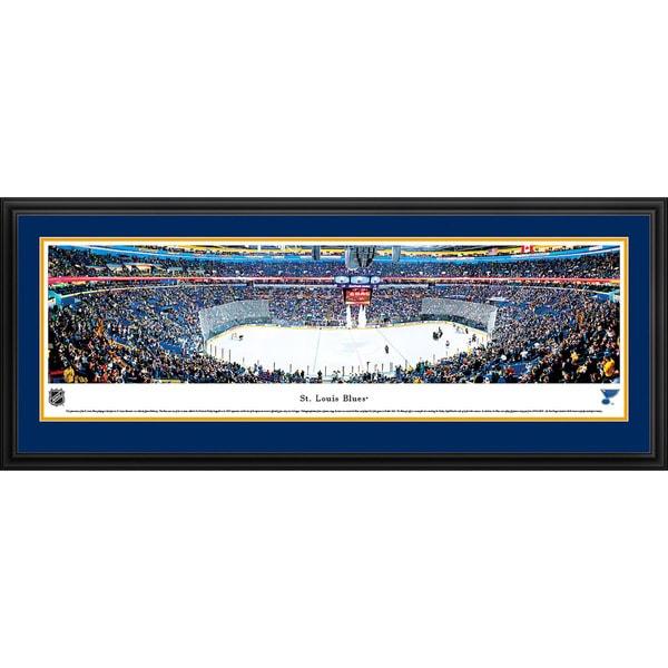 Blakeway Panoramas 'Saint Louis Blues - Center Ice' Framed NHL Print