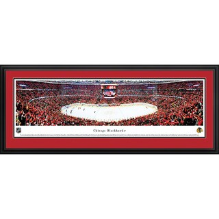 Blakeway Worldwide Panoramas Chicago Blackhawks Center Ice Framed NHL Print