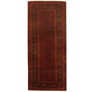 Herat Oriental Afghan Hand-knotted 1960s Semi-antique Tribal Balouchi Wool Runner (2'9 x 6'5)