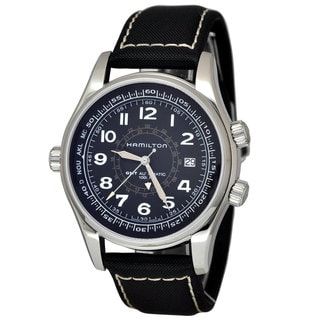 Hamilton Men's H77505433 Khaki Navy UTC Black Watch