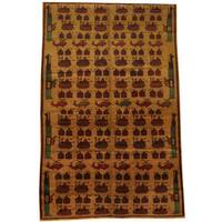 Herat Oriental Afghan Hand-knotted 1960s Semi-antique Tribal Balouchi Wool Rug (6'4 x 9'9) - 6'4 x 9'9