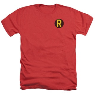 DC/Robin Logo Adult Heather T-Shirt in Red