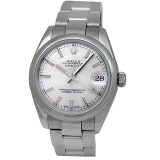 Pre-owned Rolex Women's Stainless Steel Midsize Datejust Watch