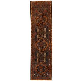 Herat Oriental Afghan Hand-knotted 1960s Semi-antique Tribal Balouchi Wool Runner (2'9 x 9'10)