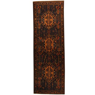 Herat Oriental Afghan Hand-knotted 1960s Semi-antique Tribal Balouchi Wool Runner (3'1 x 9'2)
