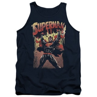 Superman/Lift Up Adult Tank in Navy