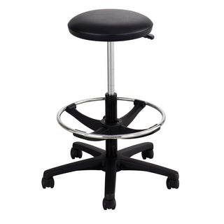 Safco Black Synthetic/Steel Extended-Height Lab Stool