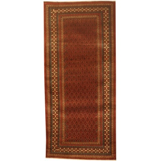 Herat Oriental Afghan Hand-knotted 1960s Semi-antique Tribal Balouchi Wool Runner (2'7 x 9'5)