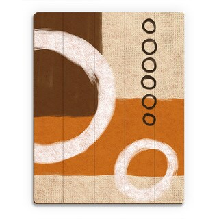 Circle Sequence Orange' Wood Abstract Wall Art