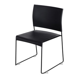 Safco Currant Black Metal and Plastic Stackable Chair