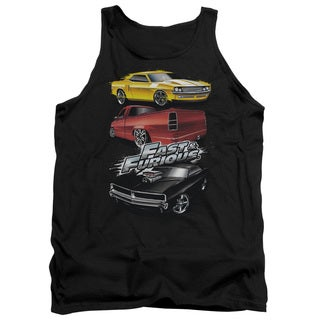 Fast and The Furious/Muscle Car Splatter Adult Tank in Charcoal