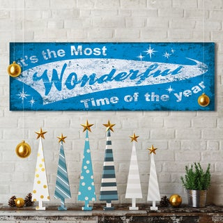 Portfolio Canvas Decor IHD Studio 'Xmas Wonderful Time' 12-inch x 36-inch Holiday Gallery-wrapped Canvas Print Wall Art