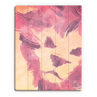 Pink Lion' Wall Art on Wood