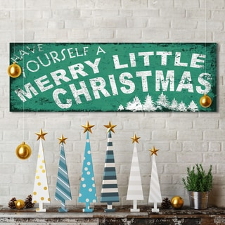 IHD Studio Portfolio Canvas Decor 'Xmas Merry Little' 12-inch x 36-inch Canvas Wall Art