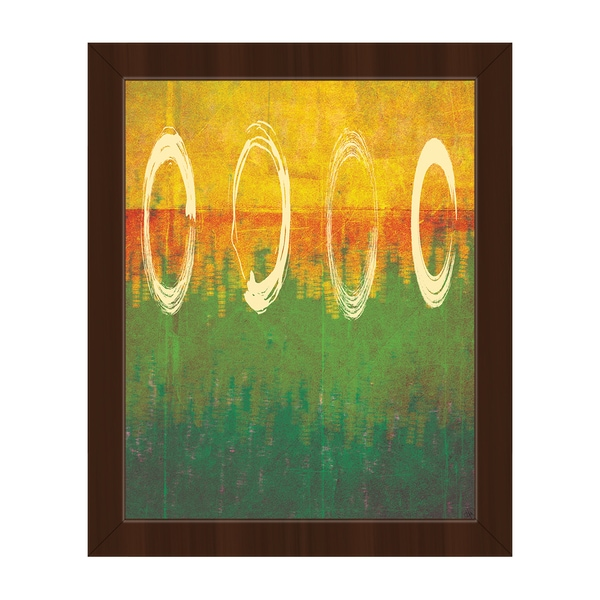 'Through The Rings' Framed Canvas Wall Art