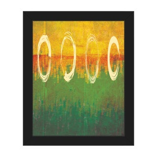 'Through the Rings' Multicolored Framed Canvas Wall Art