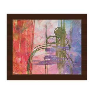 'Cyclamen Scrawl' Framed Canvas Wall Art