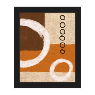 Circle Sequence Orange Framed Canvas Wall Art