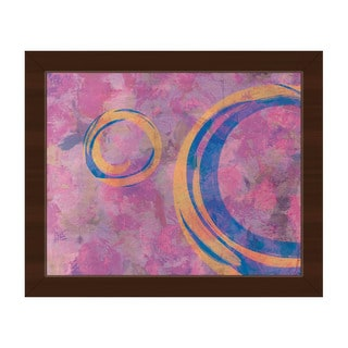 Amber Rings' Espresso Finish Plastic-framed Canvas Wall Art