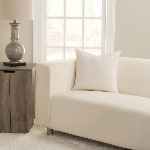 SIScovers Lyra Ivory Square Decorative Accent Pillow