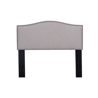 Full/Queen Nailhead Upholstered Fabric Headboard